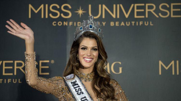 La Française, Iris Mittenaere, élue Miss Univers à Manille (Philippines), le 30 janvier 2017. (NOEL CELIS / AFP)