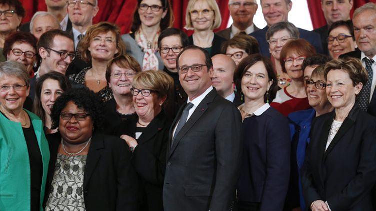 (François Hollande a installé ce mardi le haut comité à l'égalité hommes-femmes  © MaxPPP)