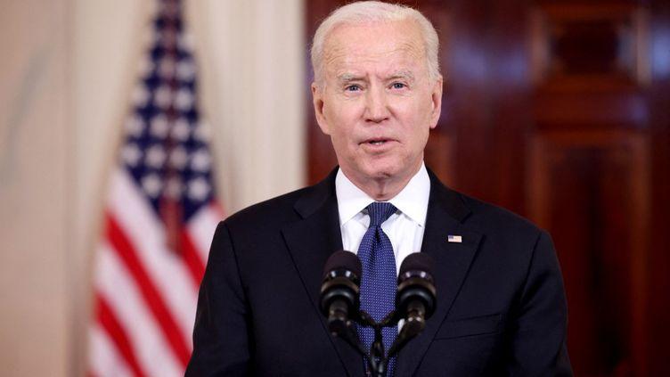 Le président américain, Joe Biden, le 20 mai 2021 à la Maison Blanche, à Washington (Etats-Unis). (ANNA MONEYMAKER / AFP)