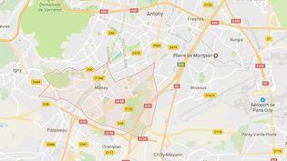 Capture écran Google Maps de la ville de Massy (Esonne), dimanche 7 mai 2017. (GOOGLE MAPS)
