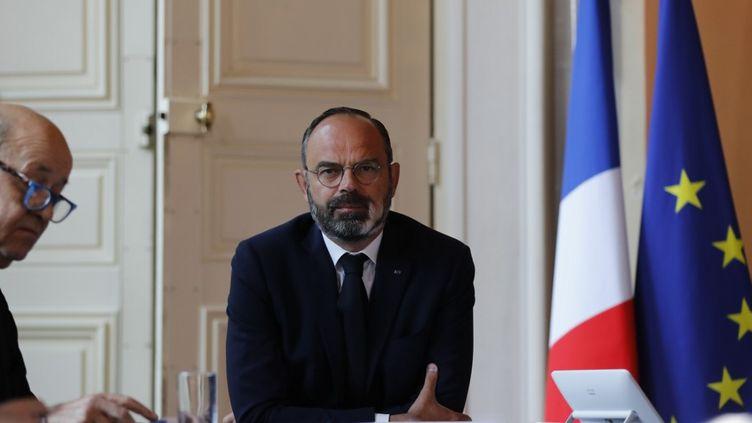 Edouard Philippe, le 14 mai 2020, àMatignon. (THOMAS COEX / POOL)