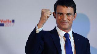 Manuel Valls, candidat à la primaire de la gauche, dimanche 22 janvier 2017 à la Maison de l'Amérique latine à Paris. (ERIC FEFERBERG / AFP)
