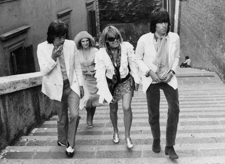 Mick Jagger, Marianne Faithfull, Anita Palenberg et Keith Richards.  (ROBERT HUNT LIBRARY/REX/REX/SIPA)
