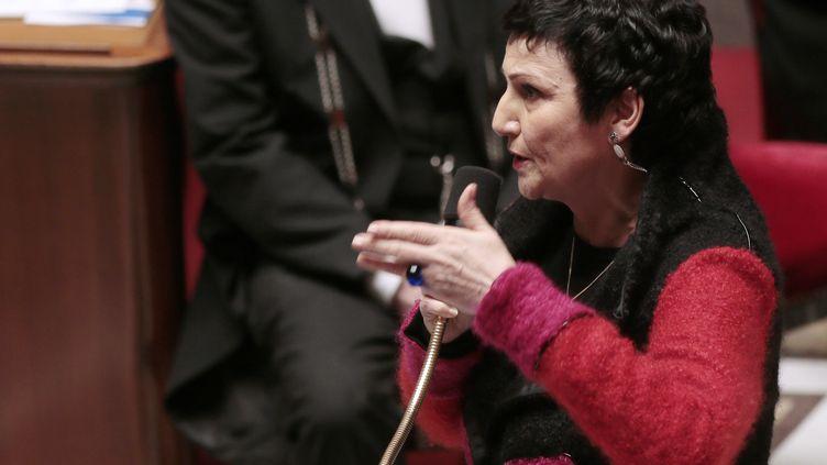 La ministre déléguée à la Famille, Dominique Bertinotti, à l'Assemblée nationale, le 4 février 2014. (JACQUES DEMARTHON / AFP)