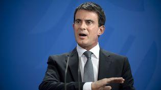 Le Premier ministre, Manuel Valls, lors d'un déplacement à Berlin (Allemagne), le 22 septembre 2014. (STEFAN BONESS / IPON / SIPA)