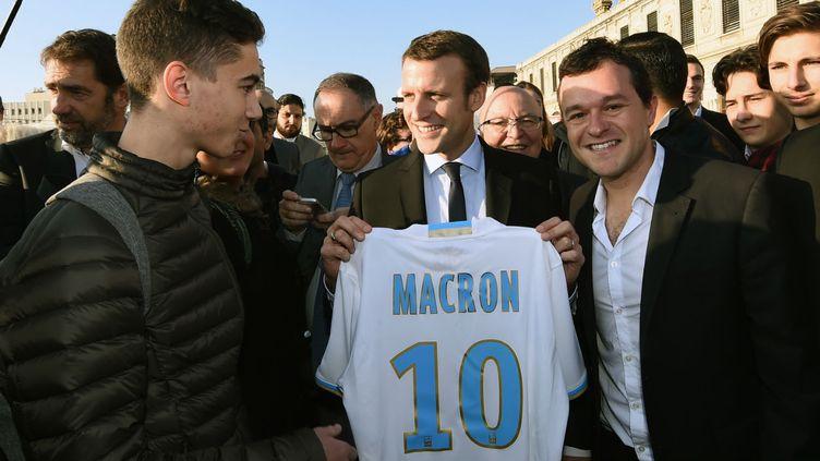 Emmanuel Macron lors d'un déplacement à Marseille en novembre 2016.