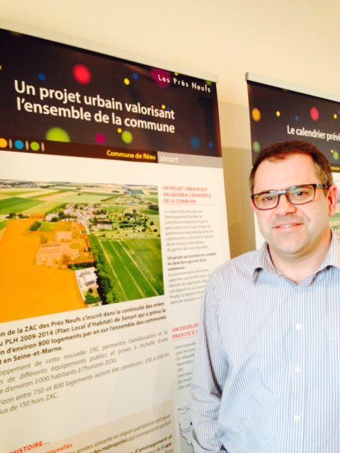 (Alain Auzet est le maire de la commune. © Anne-Laure Dagnet/Radio France)