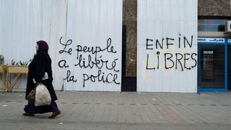 A Tunis, le 22 janvier, après la chute du président Ben Ali. (AFP - Martin Bureau)