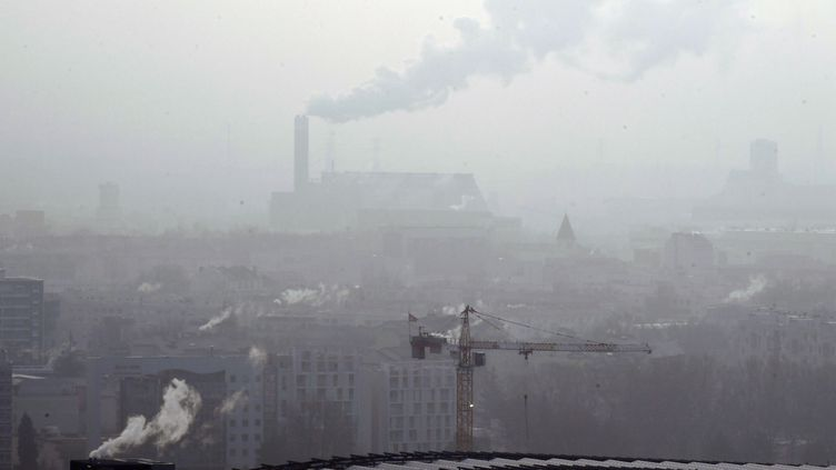Un épisode de pollution aux particules fines a touché la région de Lyon, en France, en janvier 2017. (PHILIPPE DESMAZES / AFP)