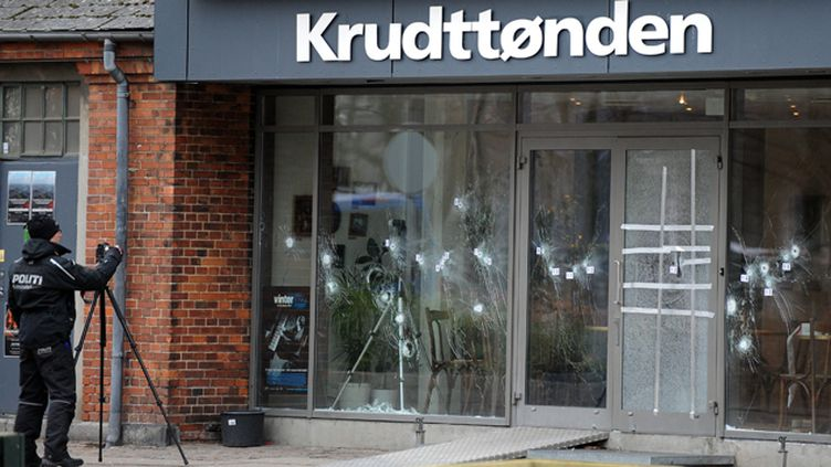 (Le centre culturel attaqué à Copenhague © Maxppp)