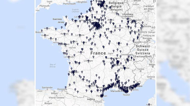 Le FN présentera un candidat aux municipales dans 562 villes de plus 1000 habitants, selon des chiffres communiqués le 7 mars 2014. (FRANCETV INFO)