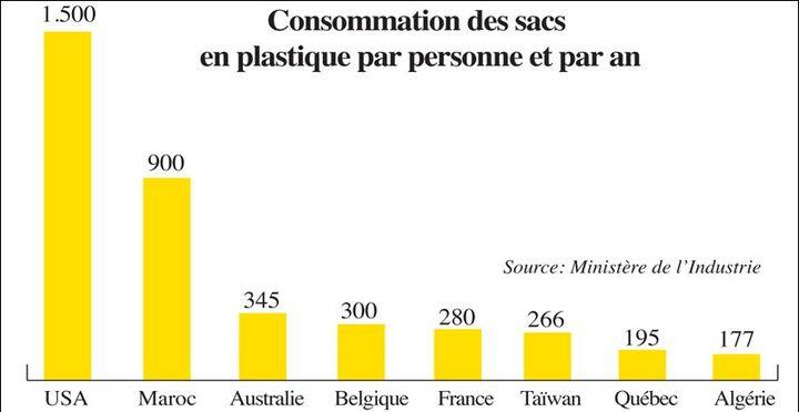 Consommation de sacs plastique. Le Maroc était un consommateur record. (www.leconomiste.com)