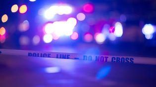 Une route barrée par la police à New York (BRYAN R. SMITH / AFP)