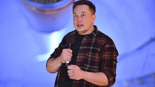 Lepatron de Tesla, Elon Musk, le 18 décembre 2018 à Los Angeles (Etats-Unis). (ROBYN BECK / POOL / AFP)
