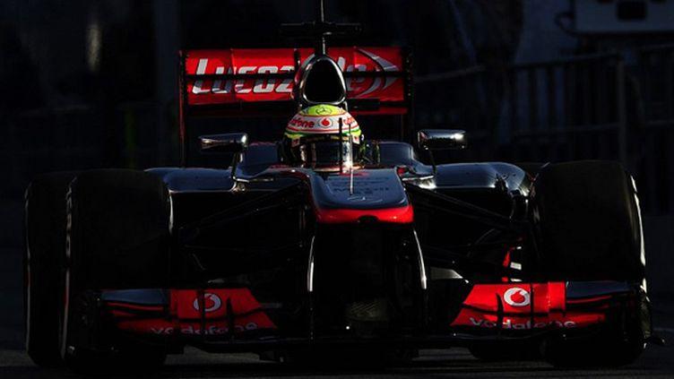 Sergio Pérez au volant de la McLaren