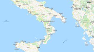 Le Français a disparu à proximité de Policastro (province de Salerne), dans le sud de l'Italie. (GOOGLE MAPS)