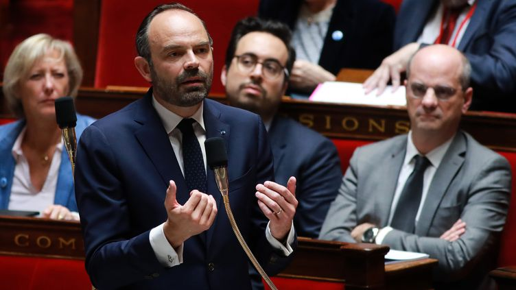 Édouard Philippe, le Premier ministre, à l'Assemblée nationale le 18 avril 2018. (JACQUES DEMARTHON / AFP)