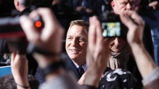 """Daniel Craig en promotion pour le James Bond """"007 Spectre"""", ici à Berlin le 28 octobre 2015.  (BRITTA PEDERSEN / DPA / dpa Picture-Alliance/AFP)"""