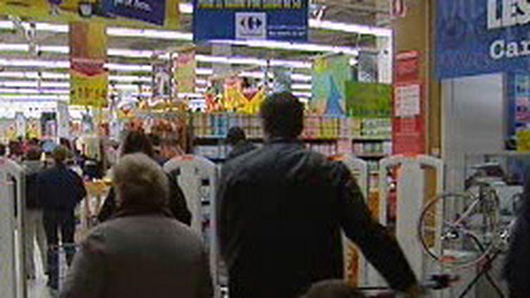 L'entrée d'un supermarché (France 2)