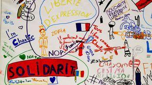 Expo #Jedessine à l'hôtel de Ville de Paris  (FRANCOIS GUILLOT / AFP)