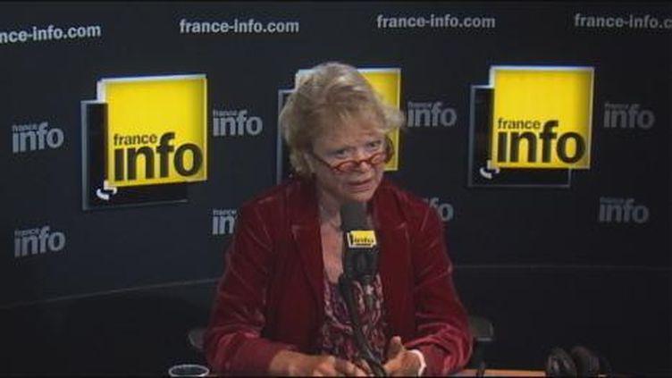 Eva Joly, candidate écologiste, ce matin au micro de France Info (France Info)