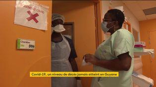 Des soignants à l'hôpital de Cayenne (Guyane) (FRANCEINFO)