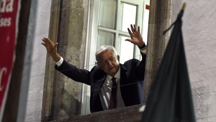 Le nouveau président mexicain,Andrés Manuel Lopez Obrador, le 1er juillet 2018 à Mexico (Mexique). (ALFREDO ESTRELLA / AFP)