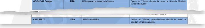 """L'hélicoptère de transport d'assaut AS-532 A2 Cougar """"opère au Yémen depuis la base de Khamis Mushait (Arabie saoudite)"""" et l'avion-ravitailleur A330 MRTT FRA """"opère au Yémen, probablement depuis la base de Jeddah (Arabie saoudite)"""". (DISCLOSE)"""