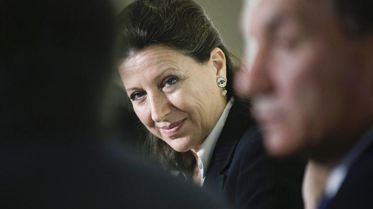 Agnès Buzyn, le 13 octobre 2017, à Chalus (Haute-Vienne). (PASCAL LACHENAUD / AFP)