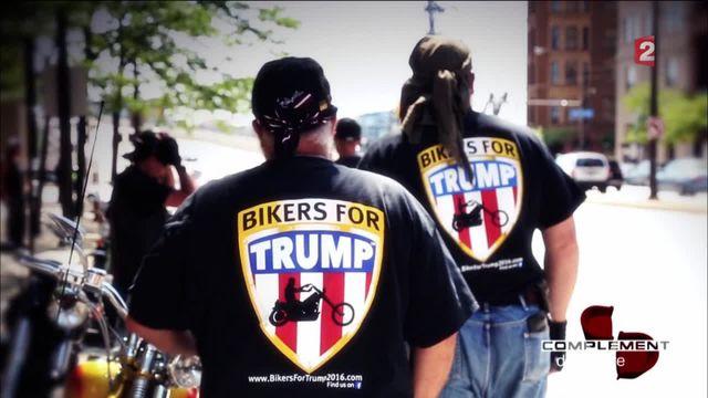 """Complément d'enquête. Les """"Biker for Trump"""", ces motards qui roulent pour Donald"""