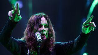 Ozzy Osbourne, chanteur de Black Sabbath, durant la tournée Reunion Tour, le 11 octobre 2013 (Sao Paulo, Brésil)  (JF DIORIO / AGÊNCIA ESTADO / AFP)