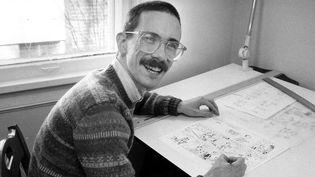 L'Américain Bill Watterson , le père de la BD Calvin et Hobbes reçoit le Grand Prix d'Angoulème 2014. Photo prise en 1986.  (C.H. PETE COPELAND/AP/SIPA)