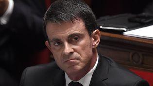 Manuel Valls le 16 Décembre 2015 à l'Assemblée nationale à Paris (DOMINIQUE FAGET / AFP)