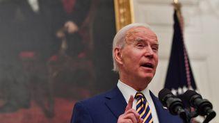 Le président américain Joe Biden, le 22 janvier 2021 à Washington (Etats-Unis). (NICHOLAS KAMM / AFP)