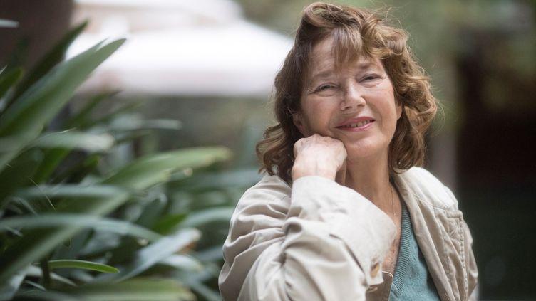 """Jane Birkin le 8 novembre 2019 à Barcelone, lors d'un festival où son spectacle """"Symphonie intime"""" a été présenté (MARTA PEREZ / EFE / SIPA)"""