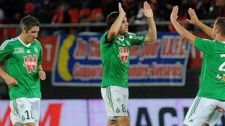 Les Verts veulent enchaîner et rester aux contacts des premières places de la Ligue 1.  (FRANCOIS LO PRESTI / AFP)
