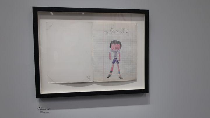"""""""Autoprotrait"""", crayons de couleurs, Catherine Meurisse, 1985 (Laurence Houot / FRANCEINFO Culture)"""