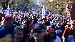 Des militants pro-Trump manifestentdans les rues de Washington (Etats-Unis), samedi 14 novembre 2020. (ROD LAMKEY - CNP / CONSOLIDATED NEWS PHOTOS)
