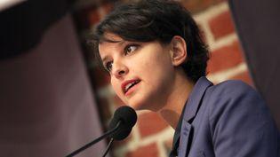 La ministre de l'Education, Najat Vallaud-Belkacem, à Lille le 14 mai 2015. (CITIZENSIDE / THIERRY THOREL / AFP)