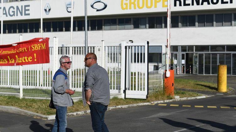L'entrée du site de laFonderie de Bretagne, à Caudan (Morbihan), le 28 mai 2020. (FRED TANNEAU / AFP)