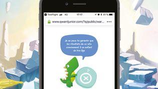 Le moteur de recherche Qwant Junior filtre automatiquement les contenus inappropriés aux moins de 12 ans (Qwant)
