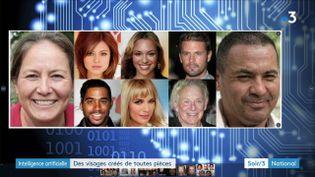 Des visages humains créés par un ordinateur (France 3)