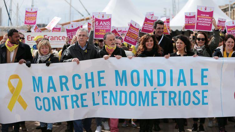 Marche mondiale contre l'endométriose, le 26 mars 2018, à Marseille (Provence). (VAL?RIE VREL / MAXPPP)