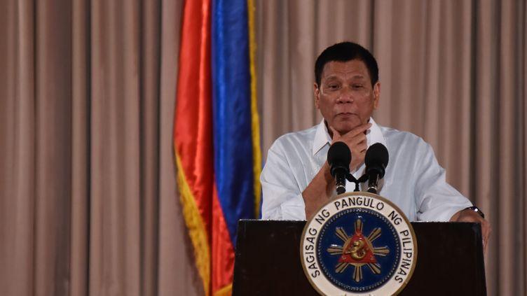 Le président philippin Rodrigo Duterte, le 26 septembre 2016, à Manille (Philippines). (GEORGE CALVELO / ANADOLU AGENCY / AFP)