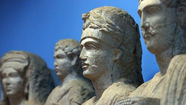 Statues de la cité antique de Palmyre (215 km au nord-est de Damas). Photo prise au musée de Palmyre en septembre 2011. (AFP - Joseph Eid)