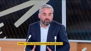 """Alexis Corbière sur le plateau de """"Votre Instant Politique"""", le 12 avril 2021; (FRANCEINFO)"""