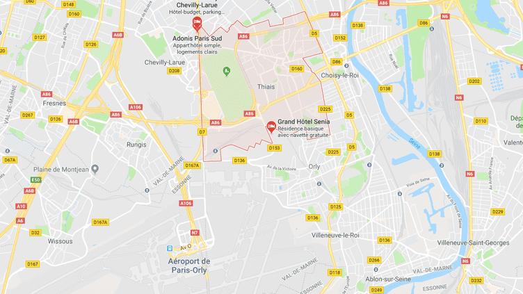 Capture d'écran google maps (GOOGLE MAPS)