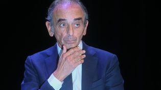 Le polémiste Eric Zemmour à Béziers (Hérault), le 16 octobre 2021. (NICOLAS GUYONNET / HANS LUCAS)