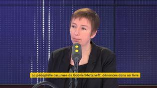 Caroline de Haas, fondatrice d'Osez le féminisme, membre du collectif #NousToutes, invitée de franceinfo le 2 janvier 2019. (FRANCEINFO / RADIO FRANCE)