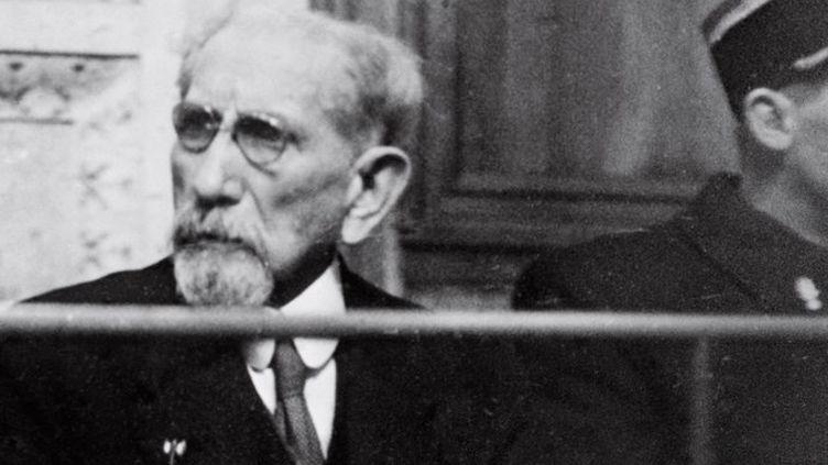 L'écrivain et homme politique Charles Maurras lors de son procès à Lyon en 1945  (AFP)